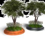 Tree dripline Coverings läpäisevä istutusalueen reunus pyöreä